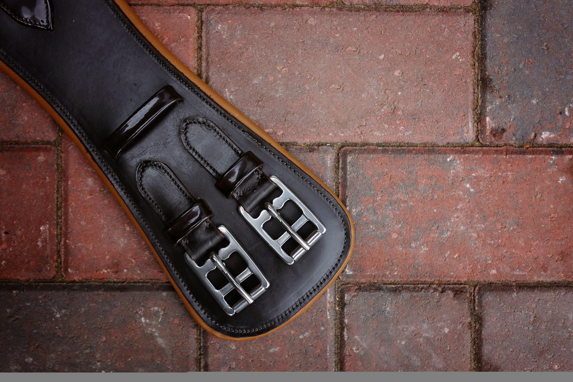 Brown & Tan Leather Girth