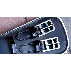 Black & White Leather Girth