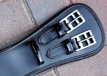 Black Leather Girth